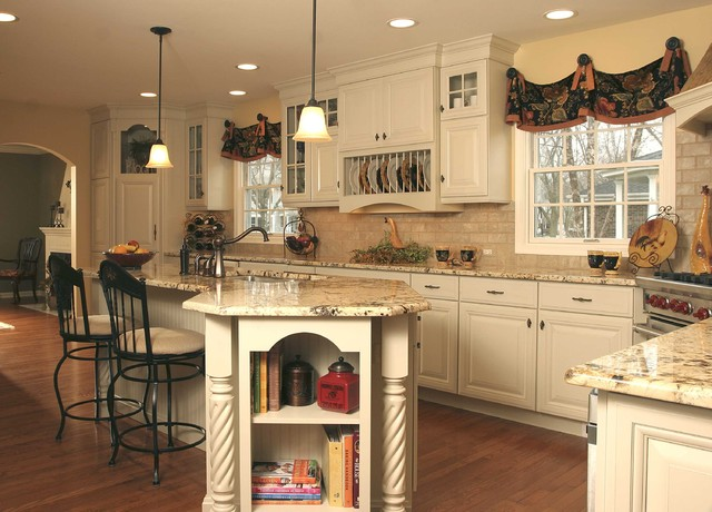 french country galley kitchen photo - 5