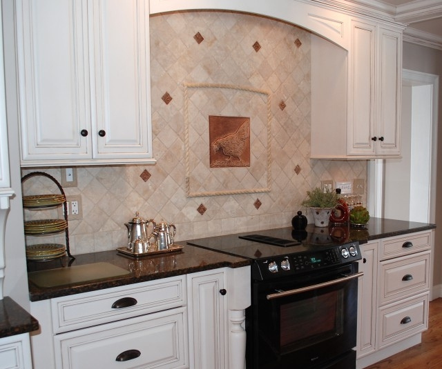 french country kitchen backsplash tiles interior