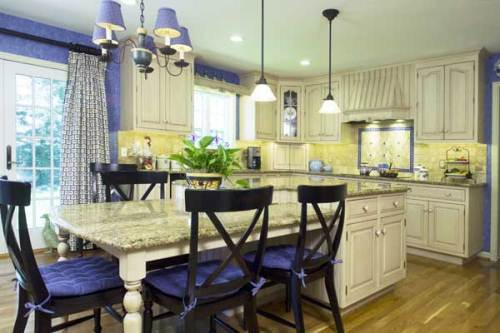 French Country Kitchen Blue And Yellow french country kitchen blue and yellow | interior & exterior doors