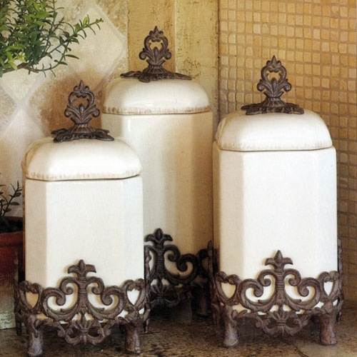french country kitchen canisters photo - 1