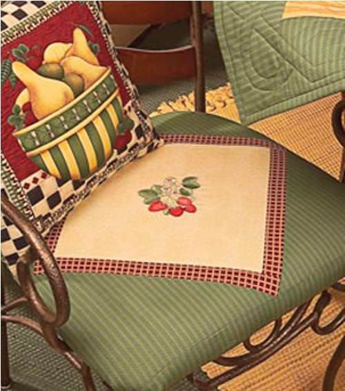 french country kitchen chair pads photo - 1