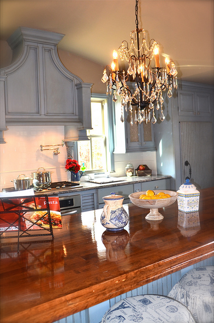french country kitchen chandelier photo - 1