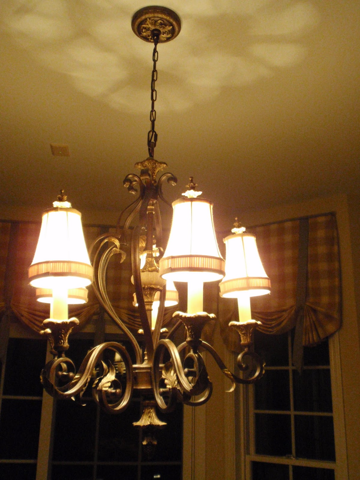 french country kitchen chandelier photo - 2