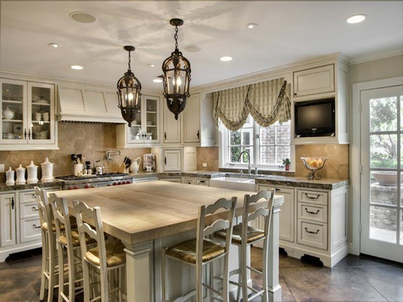 french country kitchen chandelier photo - 5