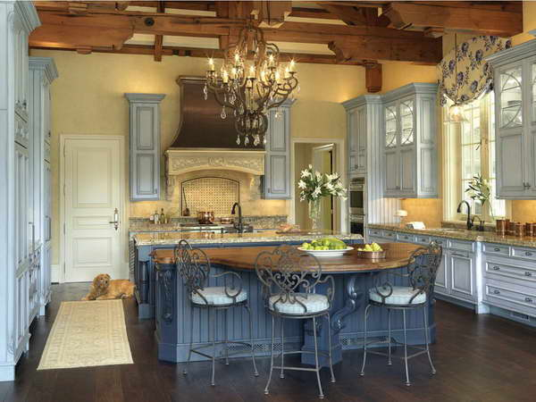 french country kitchen chandelier photo - 6