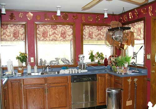 french country kitchen curtain ideas photo - 5