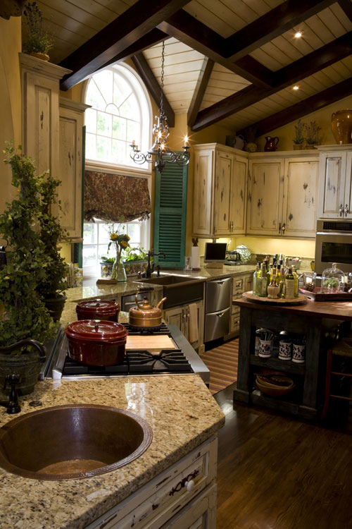 french country kitchen design ideas photo - 2