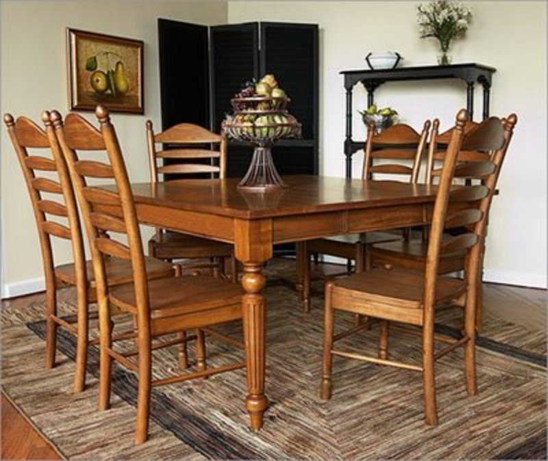 Perfect Country Dining Room Furniture Extending Scroll Back Set By ...