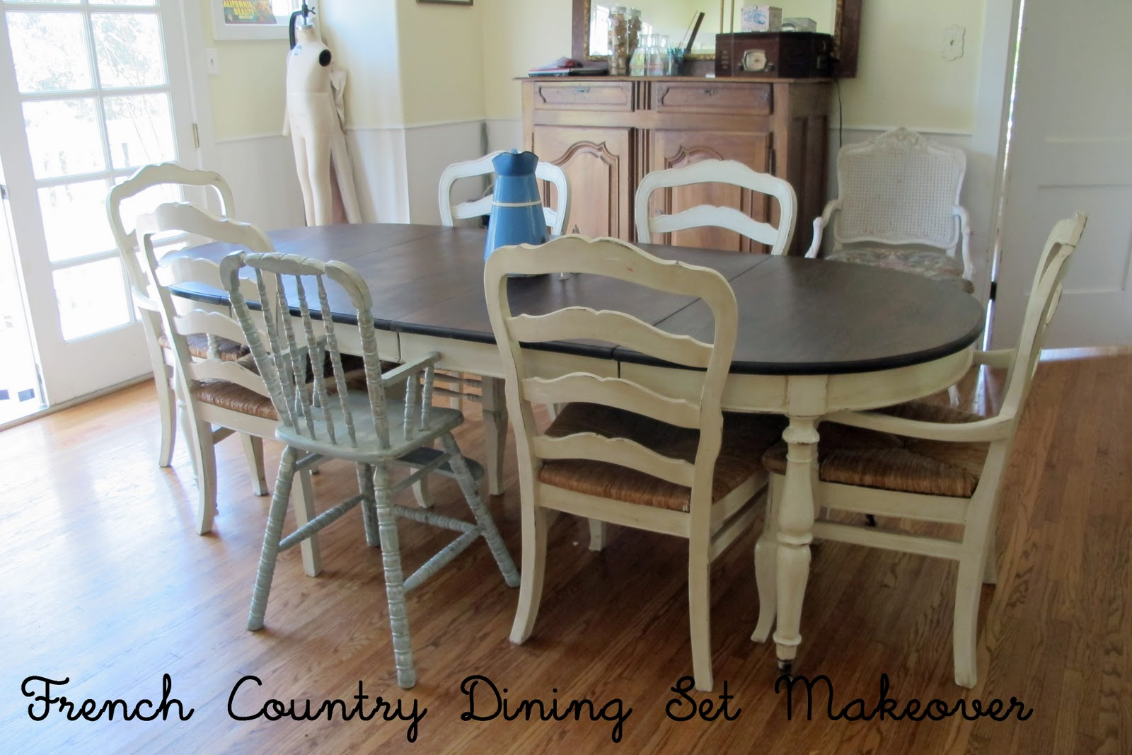 french country kitchen dining sets photo - 4