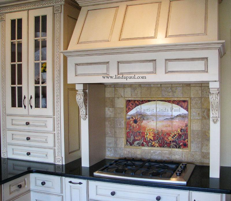 french country kitchen fireplace photo - 3