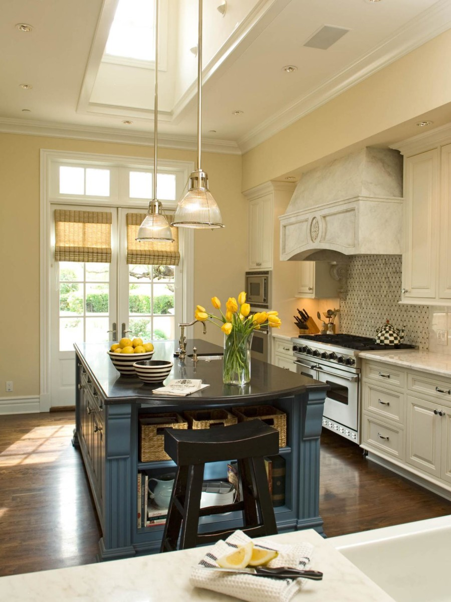 french country kitchen fixtures photo - 5
