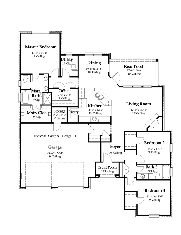 french country kitchen floor plans photo - 4