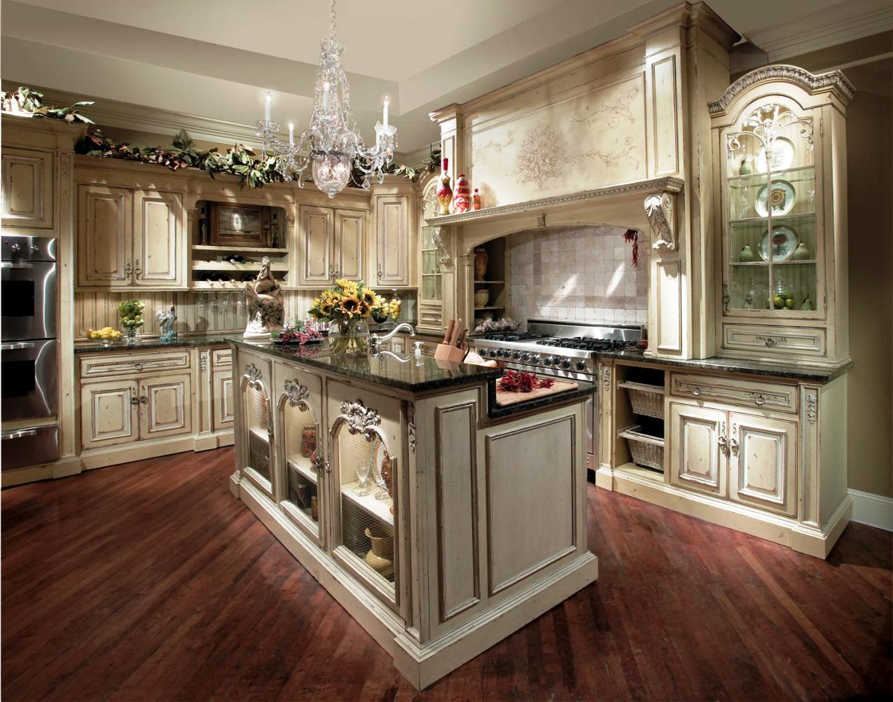 french country kitchen flooring ideas photo - 2