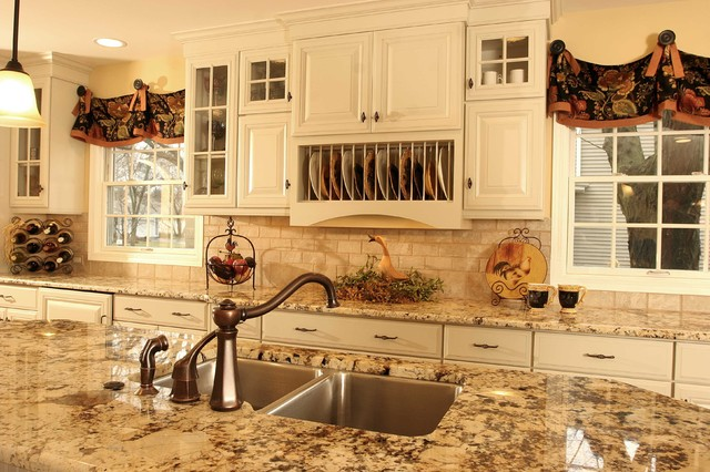 french country kitchen granite photo - 3