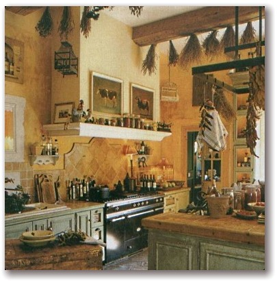 french country kitchen home photo - 2