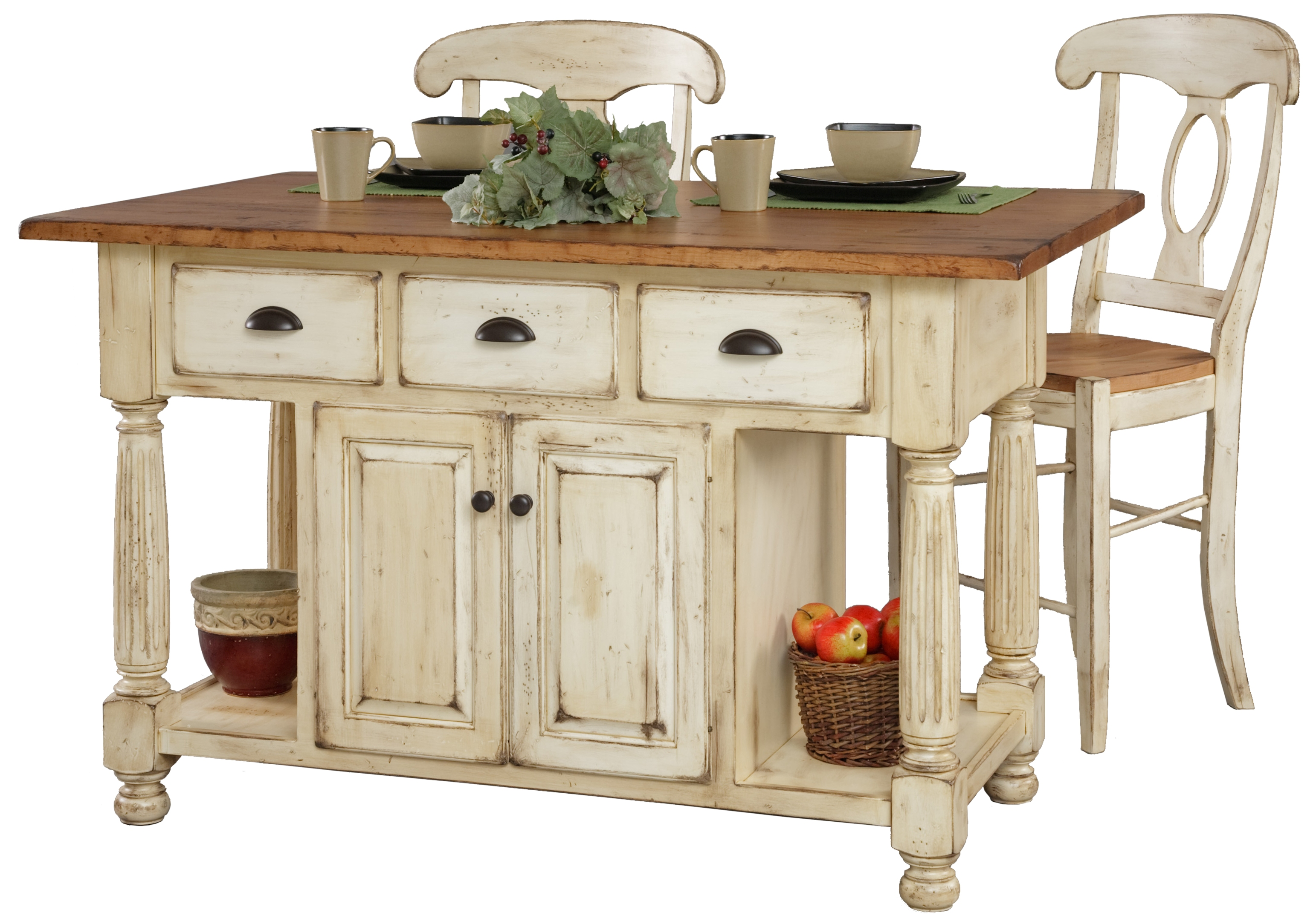 french country kitchen island furniture interior