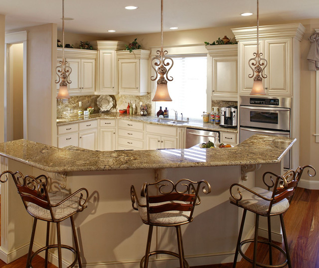french country kitchen island lighting photo - 2