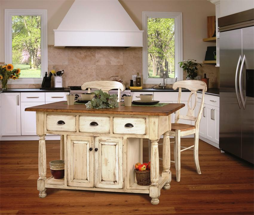 french country kitchen island table photo - 1