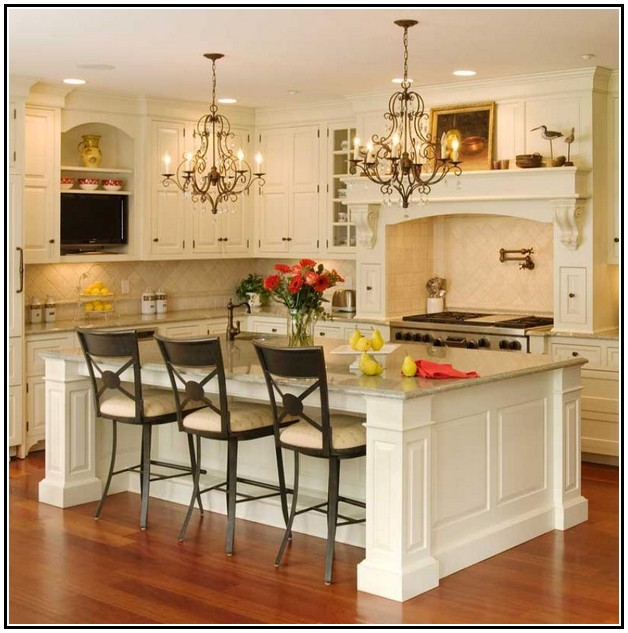 Wonderful Country Kitchen With Island Part   13: French Country Kitchen  Island Table Photo