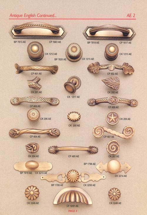 french country kitchen knobs and pulls photo - 1