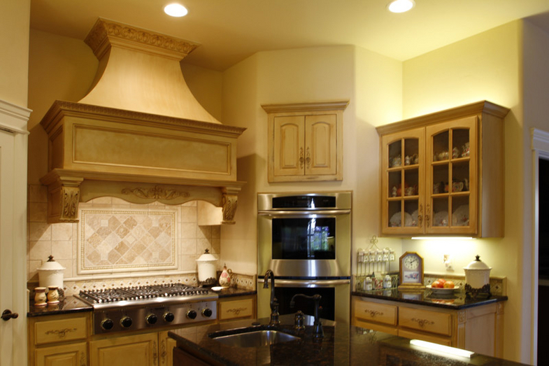 french country kitchen range hoods photo - 1