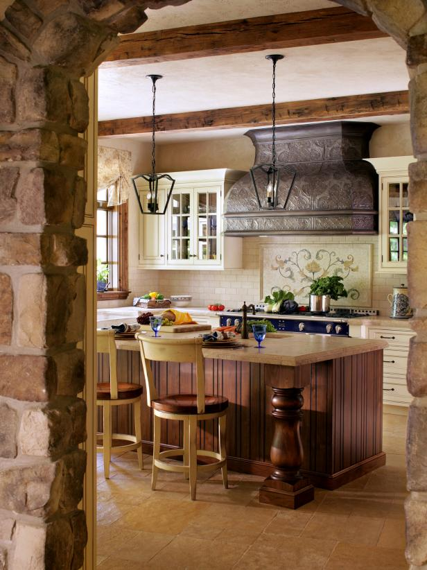 french country kitchen range hoods photo - 2
