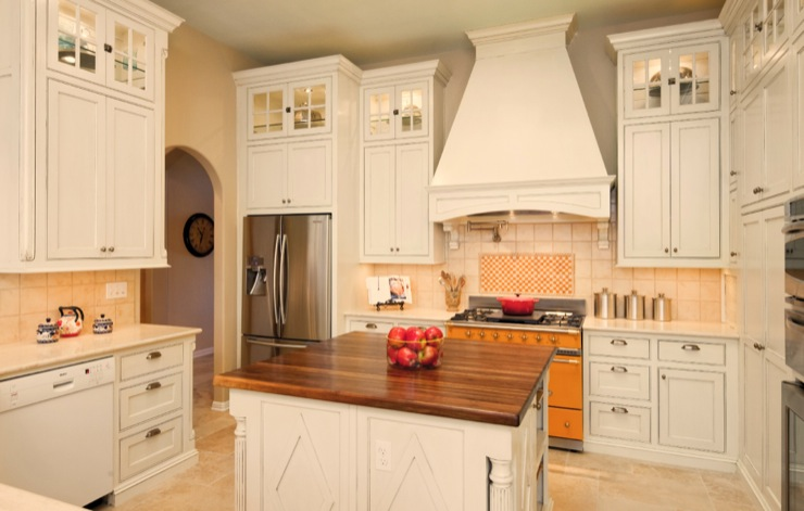 french country kitchen range hoods photo - 5