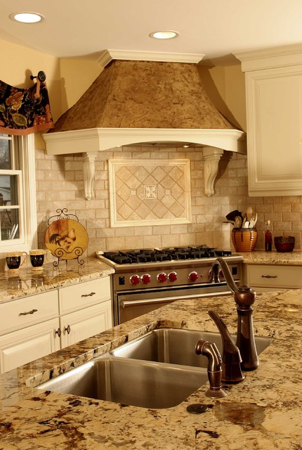 french country kitchen range hoods photo - 6
