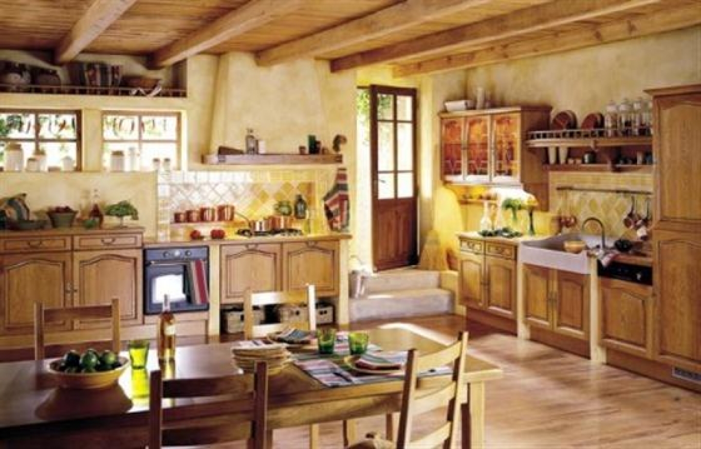 french country kitchen style photo - 1