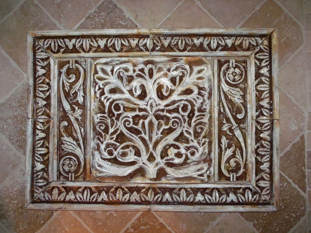 french country kitchen wall tiles photo - 5