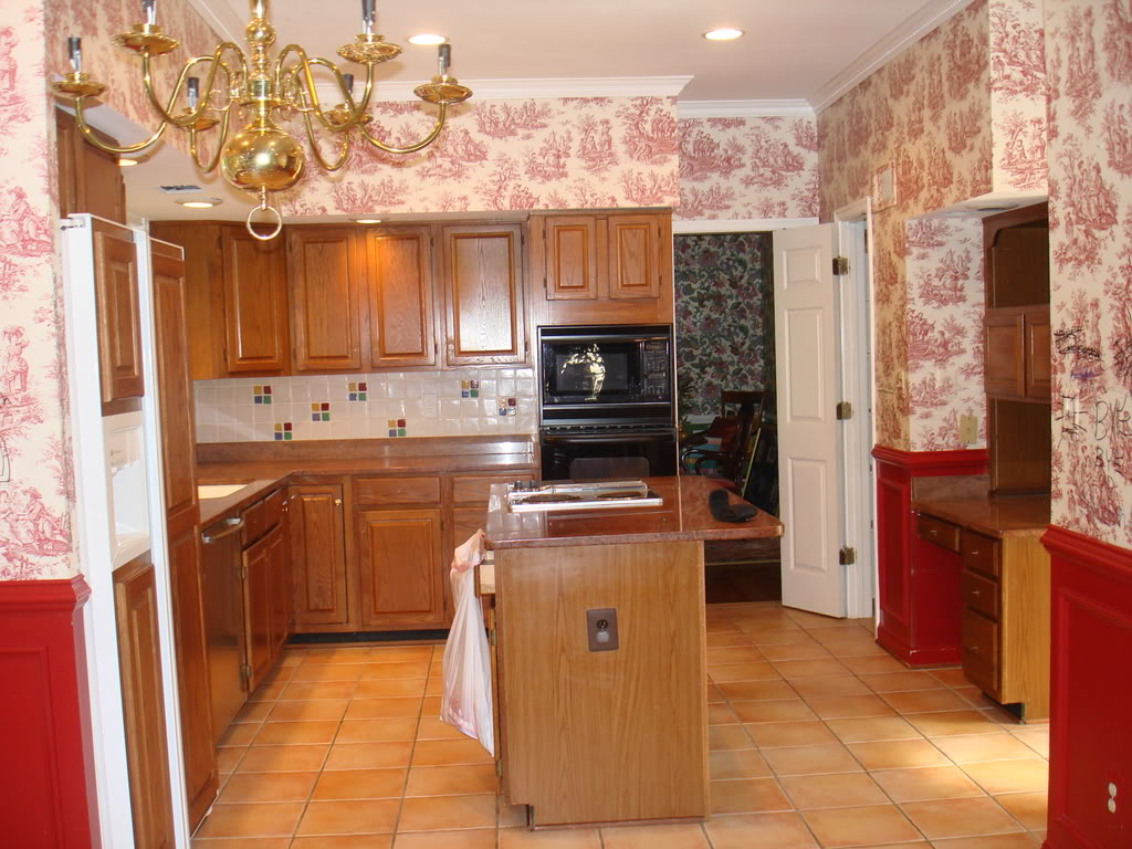 French Country Kitchen Wallpaper Photo 2