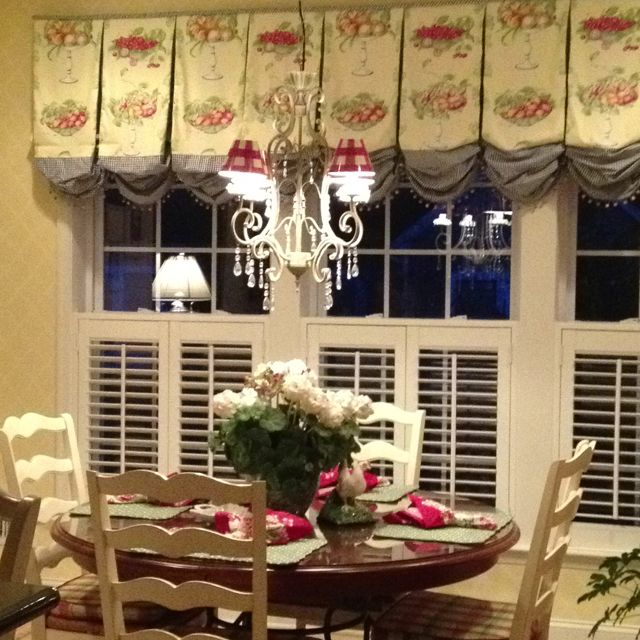 Beautiful French Country Kitchen Window Treatments