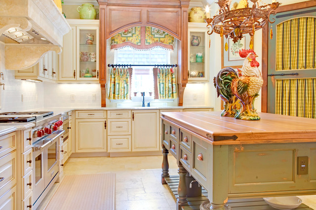 french country kitchen window treatments photo 6