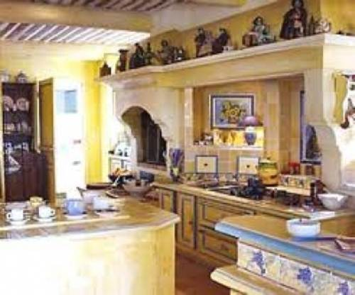 french country kitchen yellow photo - 2
