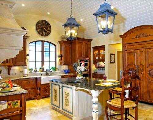 french country kitchen yellow photo - 3