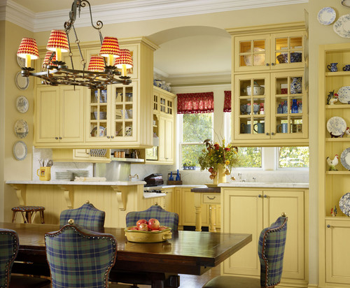 french country kitchen yellow photo - 5