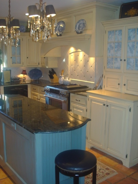 blue and yellow country kitchen. french country kitchen yellow blue photo  5 French Interior Exterior Doors