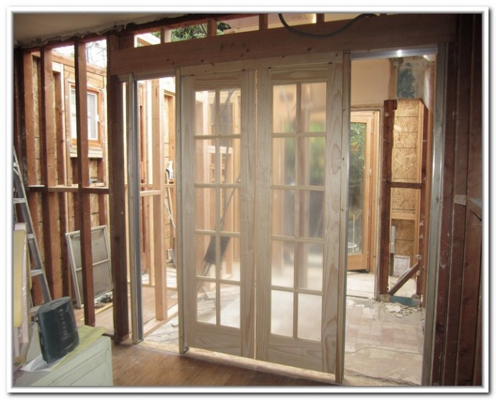 Framing doors love the craftsman framing around the for External double doors and frames