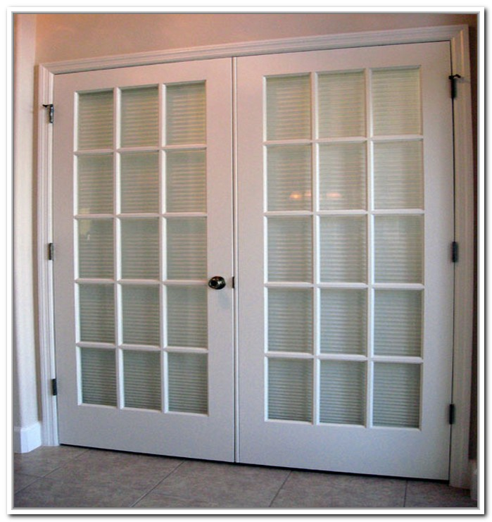 french door interior blinds built in photo - 3