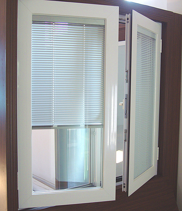 french door interior blinds built in photo - 6