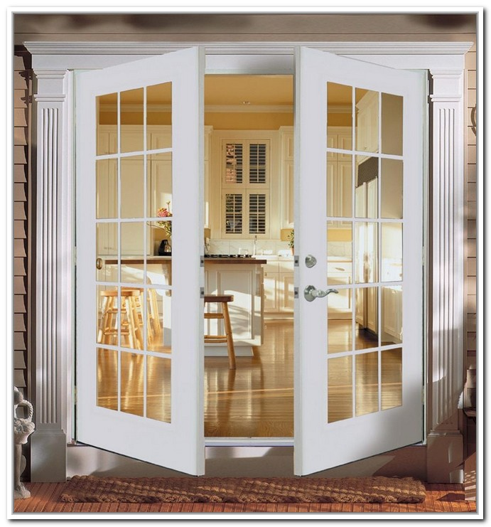 Double swing french doors closet for Exterior closet doors