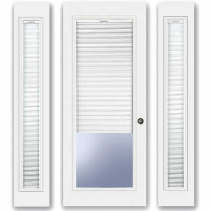 french doors exterior with built in blinds photo - 2