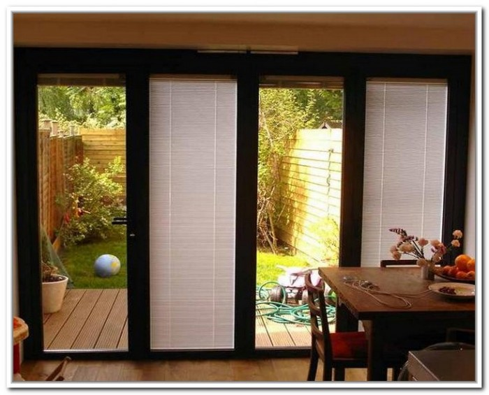 french doors exterior with built in blinds photo - 3