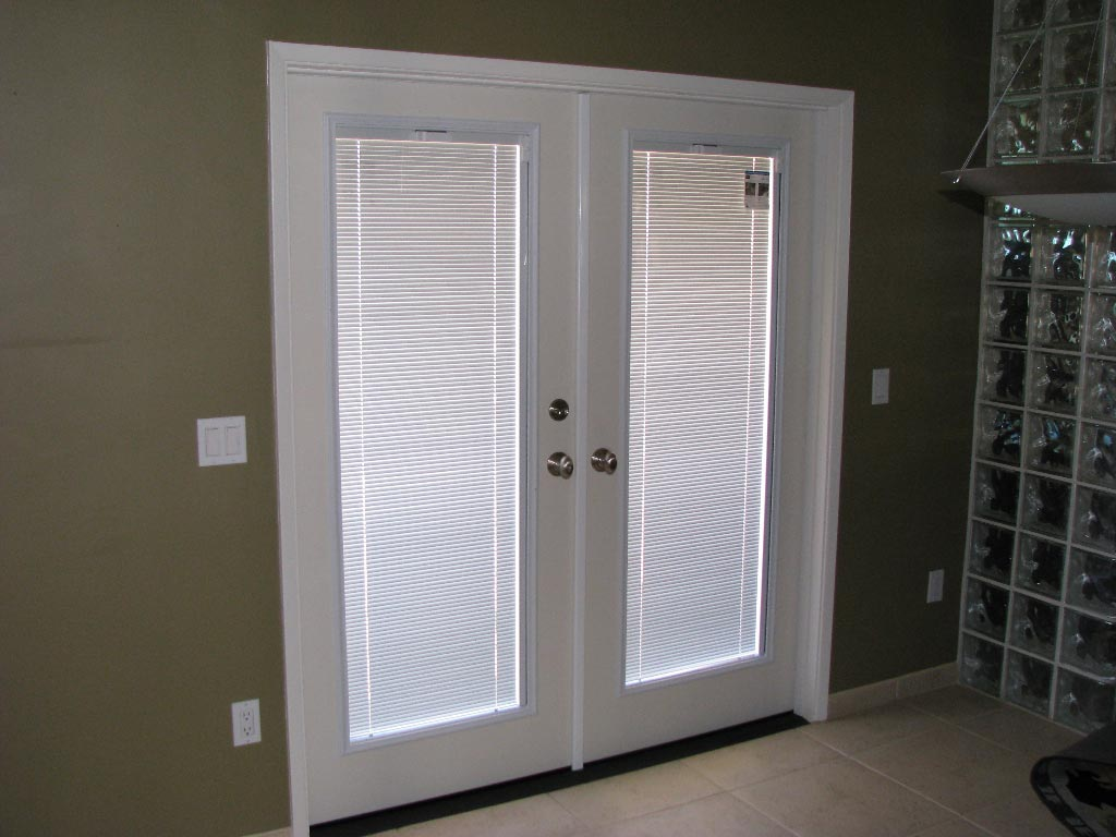 french doors exterior with built in blinds photo - 4