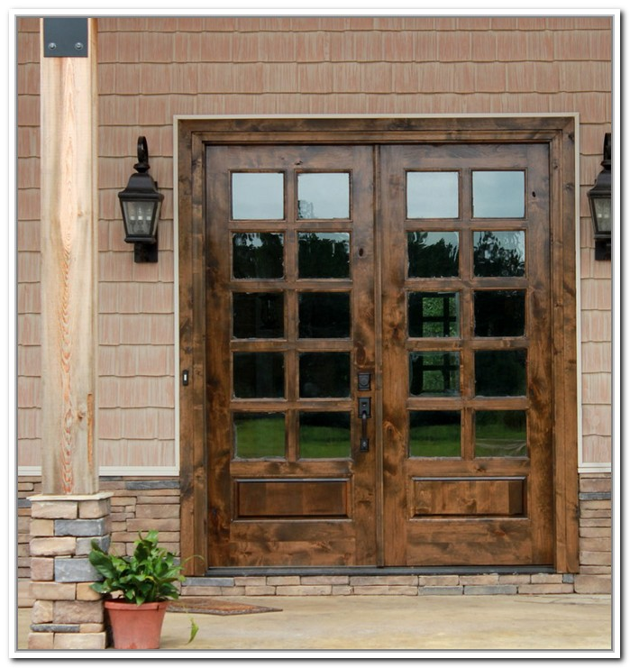 Best Wood Exterior French Doors Images  Interior Design Ideas