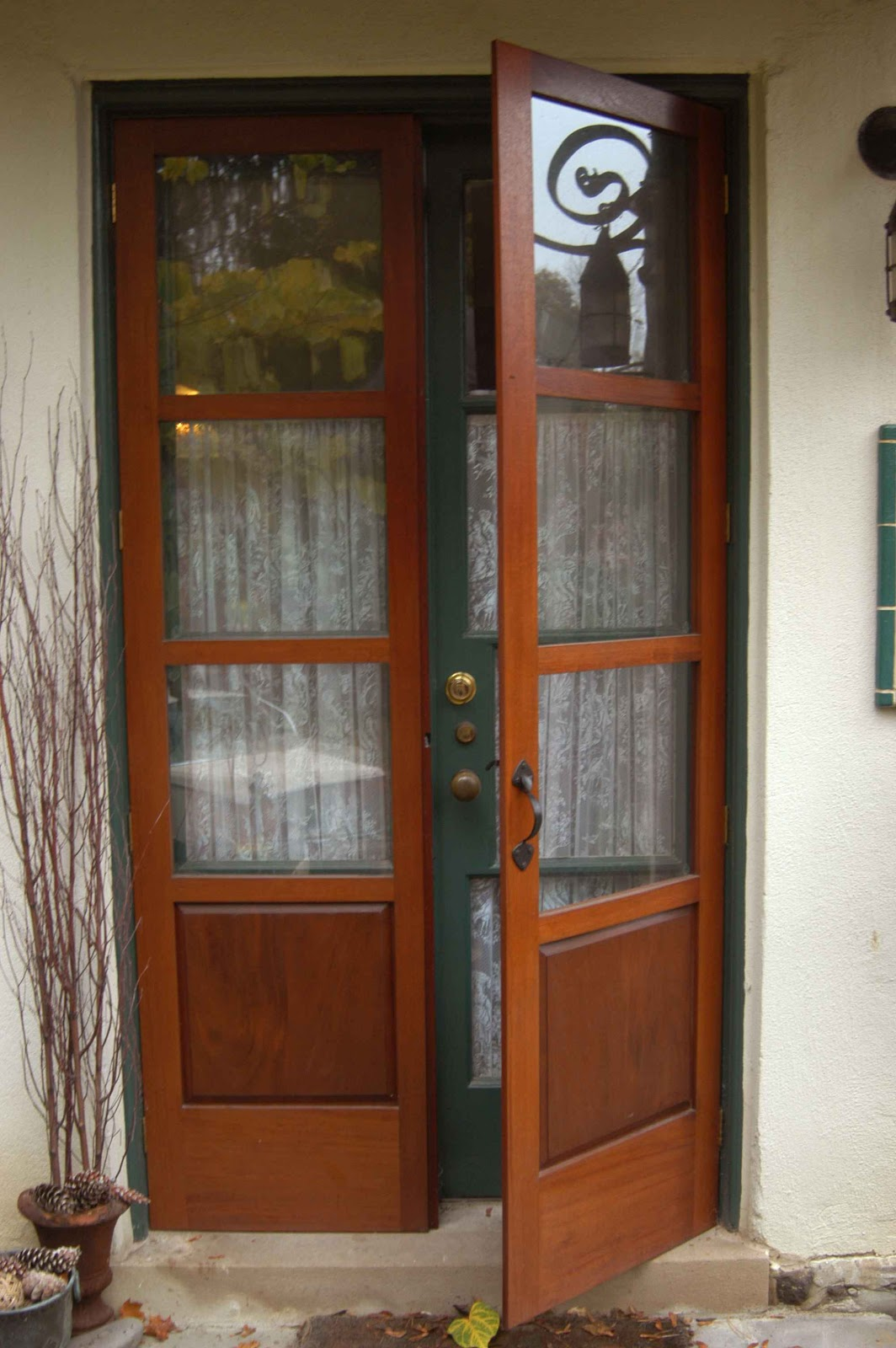 french doors exterior wood photo - 5
