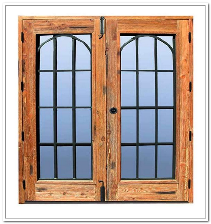 french doors exterior wrought iron photo - 4