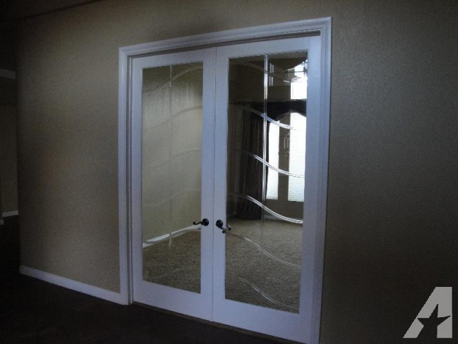 french doors interior beveled glass photo - 2