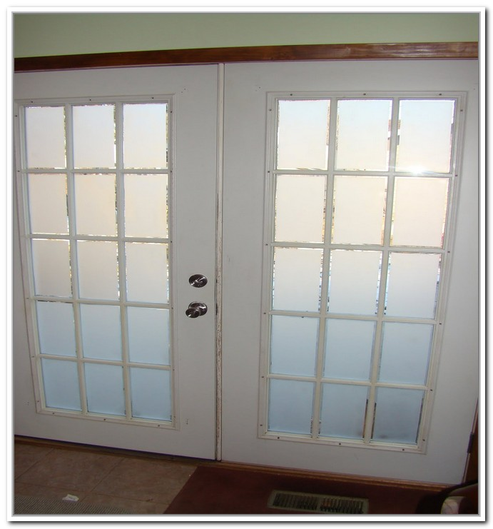 french doors interior frosted photo - 5