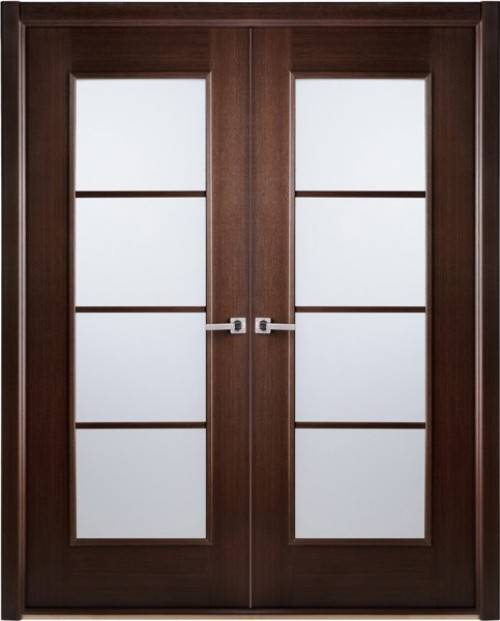 French doors interior frosted glass - an ideal material for use in any wardrobe door style
